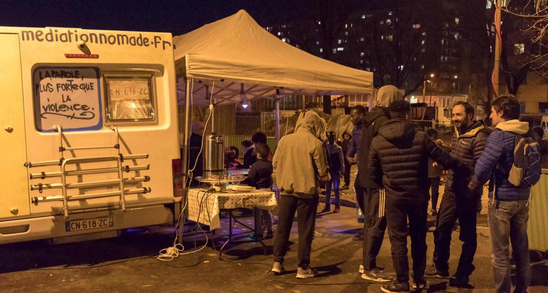 5 ans d'activités, 42 villes, 59 quartiers :  230 Soirées médiation nomade de 20h à minuit